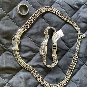 Necklace bracelet earrings